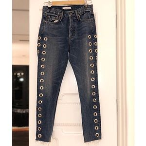 GRLFRND Jeans With Silver Hardware